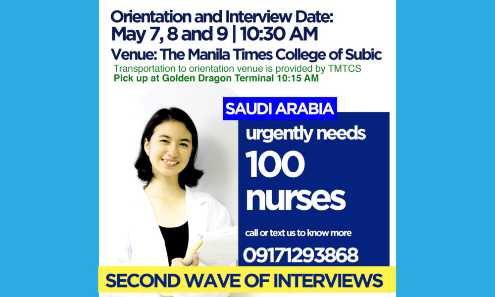 Deployment of Nurses to Saudia Arabia