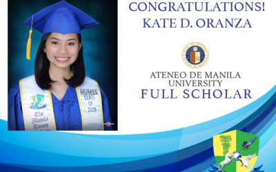TMTCS Awardee bags Ateneo De Manila Scholarship